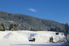 Inverno in Garmisch Fotografia Stock