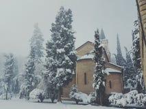 inverno in Georgia fotografie stock libere da diritti