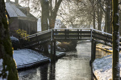 Inverno in Giethoorn Fotografia Stock Libera da Diritti