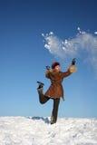 Inverno girl4 feliz Foto de Stock Royalty Free