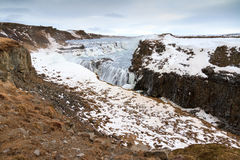 Inverno Gullfoss fotografia stock