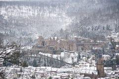 Inverno a Heidelberg Fotografia Stock