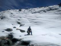 inverno Himachal Pradesh de Chhitkul da neve imagens de stock royalty free