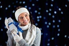 Inverno: Ipotesi dell'indice del regalo immagine stock libera da diritti