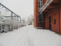 Inverno a Kiev Fotografie Stock