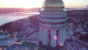 Inverno Kiev Lavra video d archivio