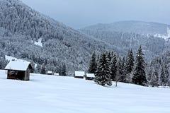 Inverno la valle/Austria di Tannheim Immagine Stock