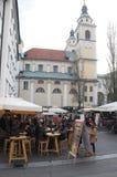 inverno Ljubljana Foto de Stock