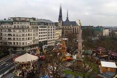 Inverno a Lussemburgo Immagine Stock