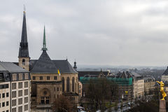 Inverno a Lussemburgo Immagini Stock