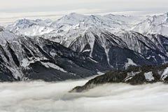 Inverno in montagna Fotografia Stock Libera da Diritti