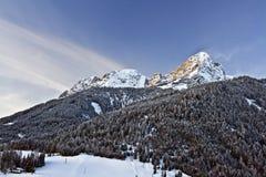 Inverno in montagna Immagine Stock
