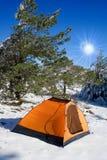 Inverno in montagne fotografia stock