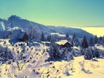 Inverno in montagne Immagine Stock
