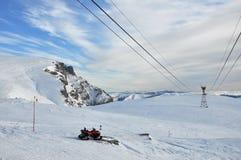 Inverno in montagne di Bucegi Fotografia Stock