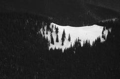 Inverno in montagne di Parang Fotografia Stock