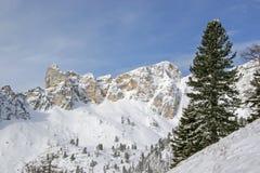 Inverno in montagne di Rofan Fotografie Stock Libere da Diritti