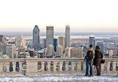 Inverno Montreal Fotografia Stock Libera da Diritti