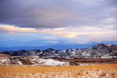 Inverno na área rural de Montana, EUA fotos de stock royalty free