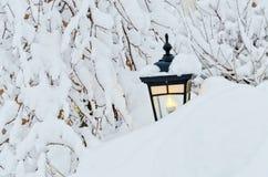 Inverno na cidade Imagens de Stock Royalty Free