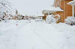 Inverno na cidade Fotografia de Stock