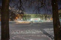 inverno na cidade grande imagem de stock royalty free