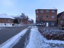 inverno na cidade Herning, Dinamarca Foto de Stock Royalty Free