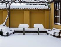 inverno na cidade velha de Plovdiv Bulgária 2 Imagem de Stock Royalty Free