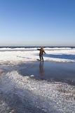 inverno na costa Báltico imagem de stock