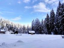 Inverno na montanha imagens de stock royalty free