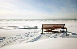 Inverno na praia Imagens de Stock Royalty Free
