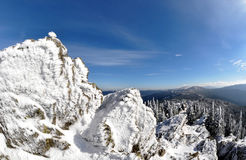 Inverno na república checa Imagens de Stock Royalty Free