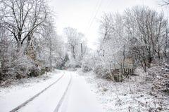 Inverno na vila imagem de stock royalty free