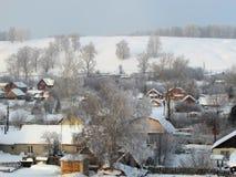 Inverno na vila Foto de Stock