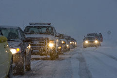 Inverno nas estradas Foto de Stock Royalty Free