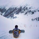 Inverno nas montanhas Foto de Stock