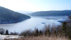 inverno nas montanhas do minério em Saxony Fotografia de Stock Royalty Free