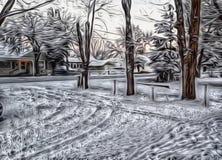 Inverno nel bacino illustrazione di stock