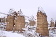 Inverno nel Cappadocia Fotografia Stock Libera da Diritti