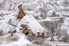 Inverno nel Cappadocia Fotografia Stock