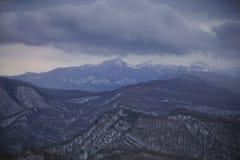 Inverno nel Caucaso Immagini Stock