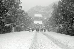 Inverno nel Giappone Fotografia Stock