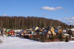 Inverno nel lato del paese Fotografie Stock