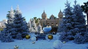 Inverno nel Monaco, Monte Carlo fotografia stock libera da diritti