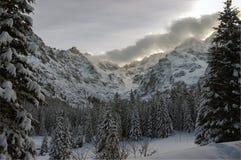 Inverno nel Tatras Fotografie Stock