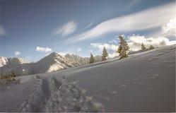 Inverno nel Tatras Immagine Stock