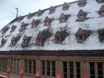 Inverno nell'Alsazia Fotografia Stock
