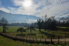 Inverno nell'area della Savoia in Francia del sud Immagine Stock Libera da Diritti