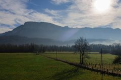 Inverno nell'area della Savoia in Francia del sud Fotografia Stock Libera da Diritti