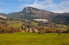 Inverno nell'area della Savoia in Francia del sud Fotografie Stock Libere da Diritti